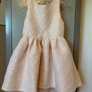 H&M Iridescent Pink Brocade Hi-Lo Dress Size 3-4Y